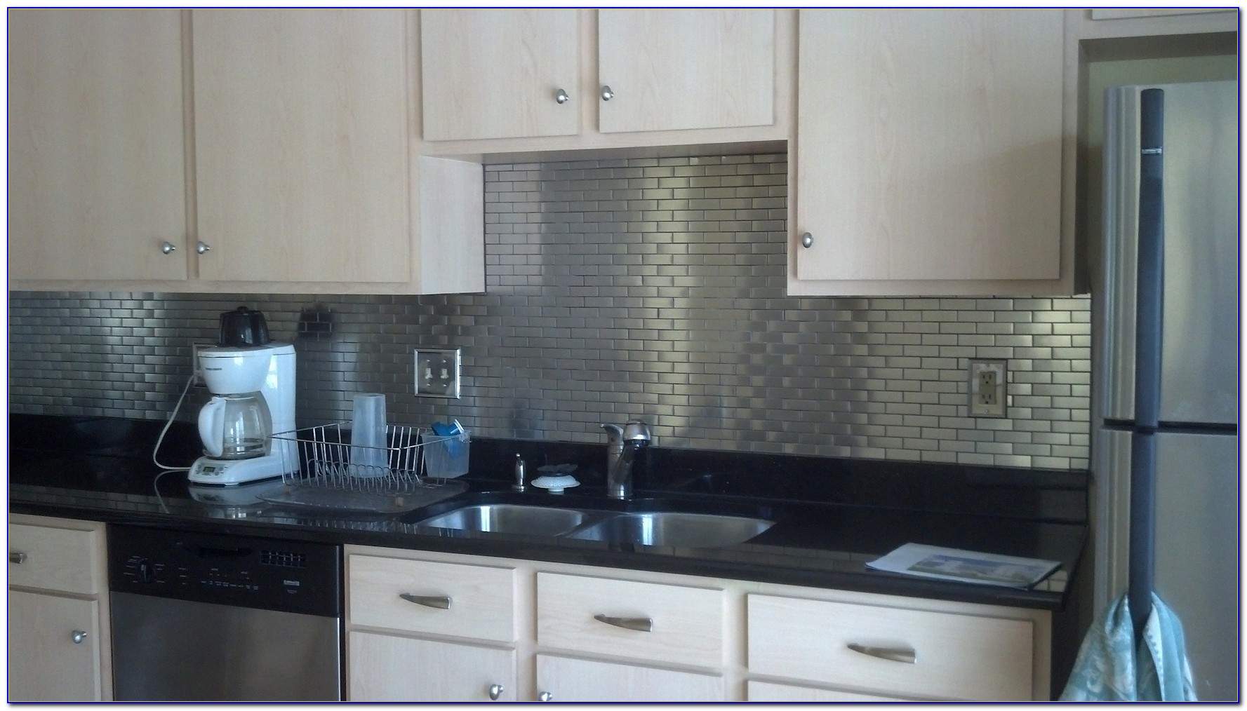 Stainless Steel Subway Tiles Peel And Stick