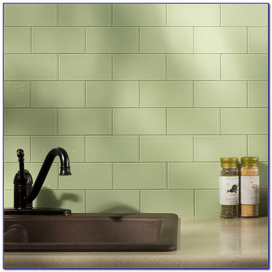Stainless Stick On Tile Backsplash