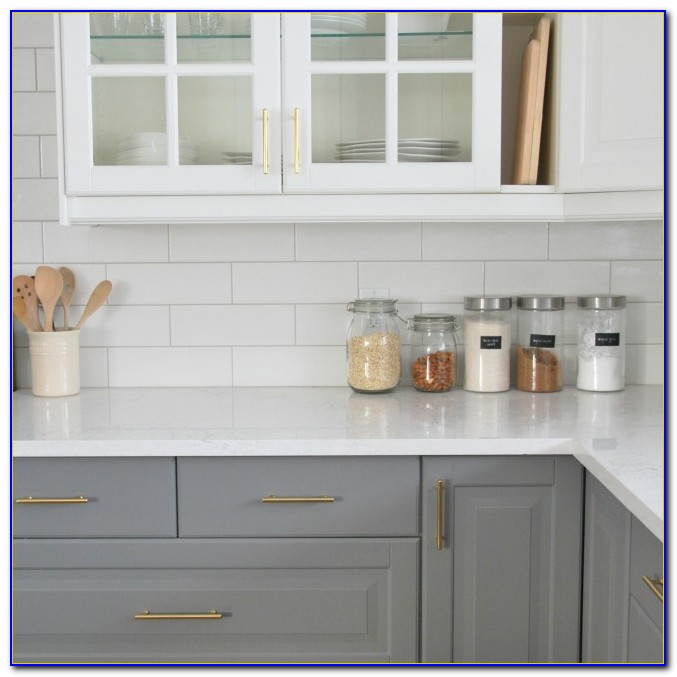 Subway Tile Backsplash Kitchen White