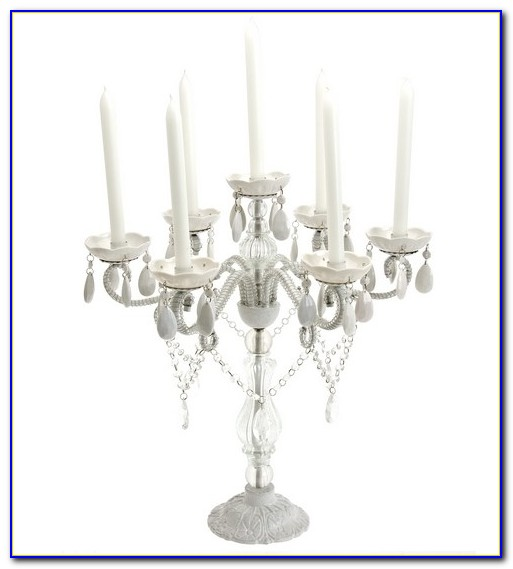 Tabletop Crystal Candle Chandelier