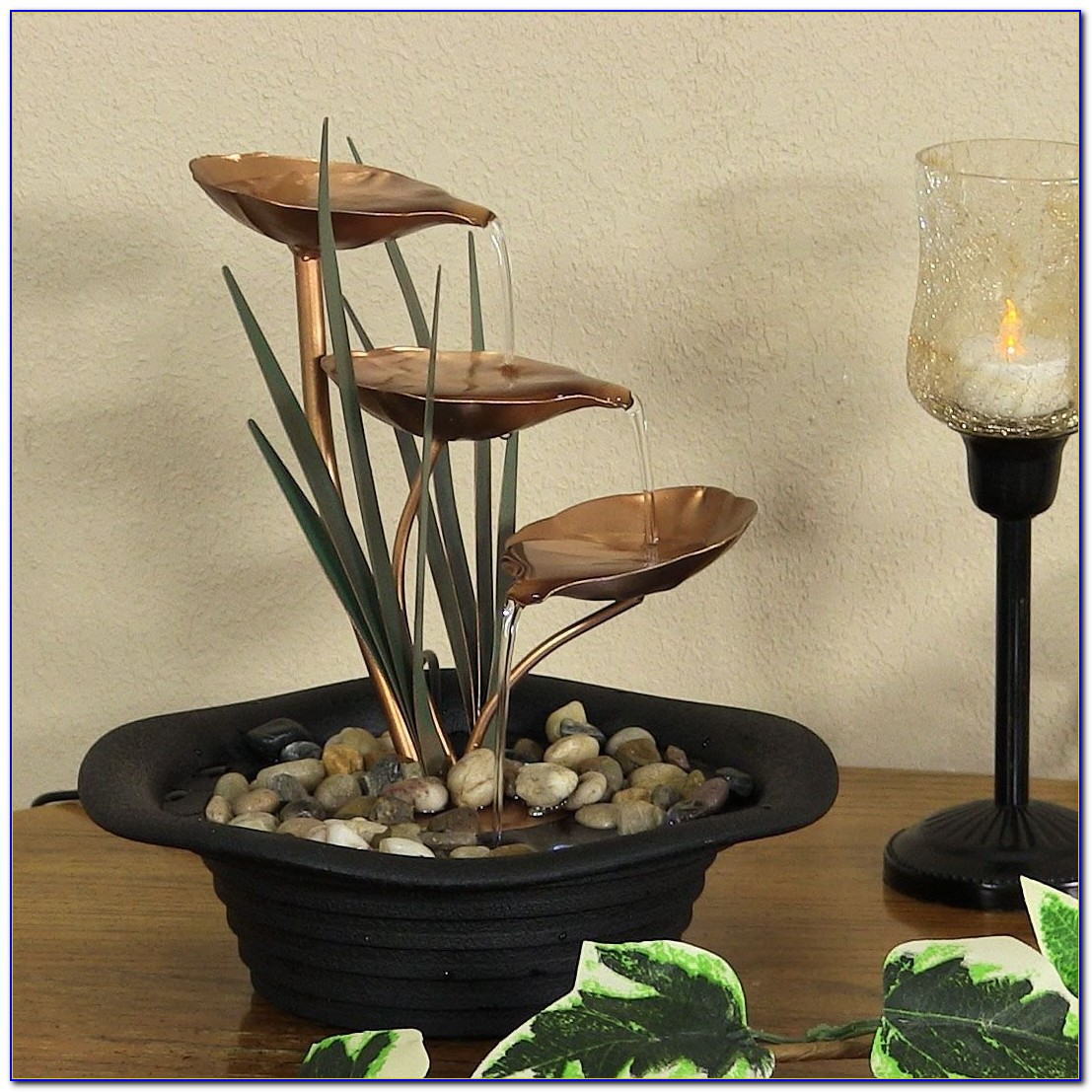 Tabletop Fountain With Led Lights