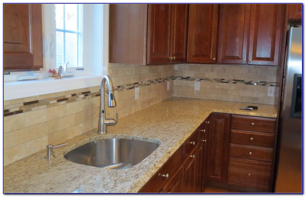 Travertine Subway Tile Backsplash Pictures