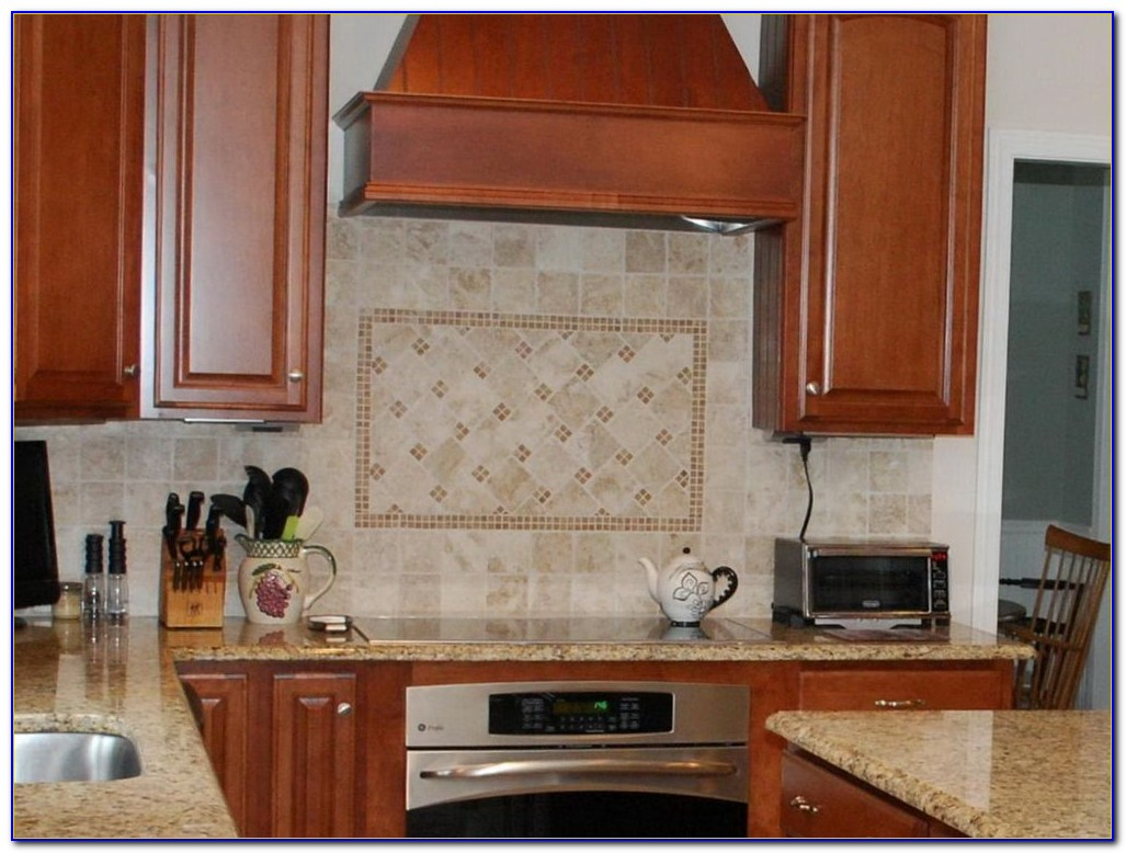 Travertine Subway Tile Kitchen Backsplash