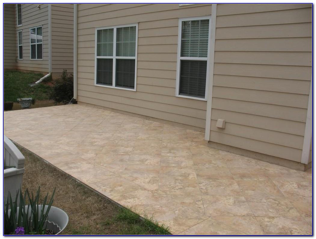 Travertine Tile Over Concrete Patio