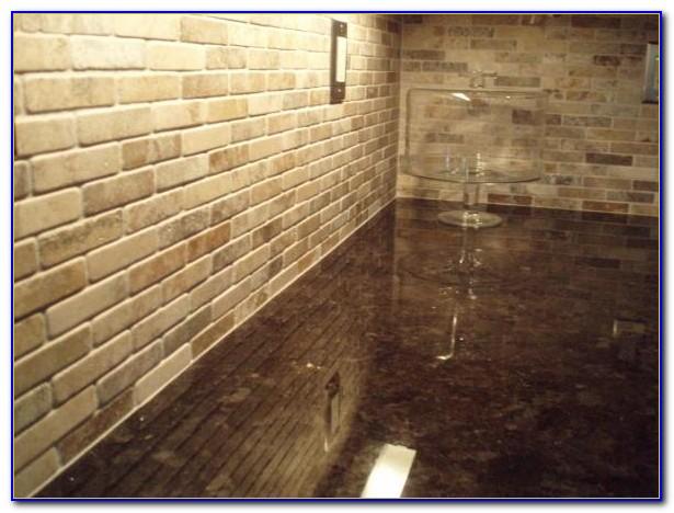Tumbled Marble Subway Tile Kitchen Backsplash