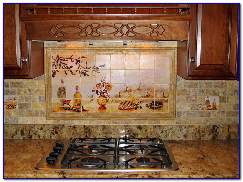 Tumbled Natural Stone Tile Backsplash