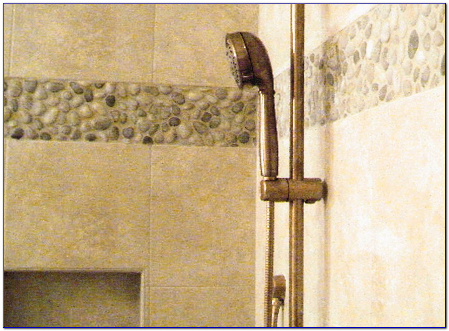 Vertical Accent Tile In Shower