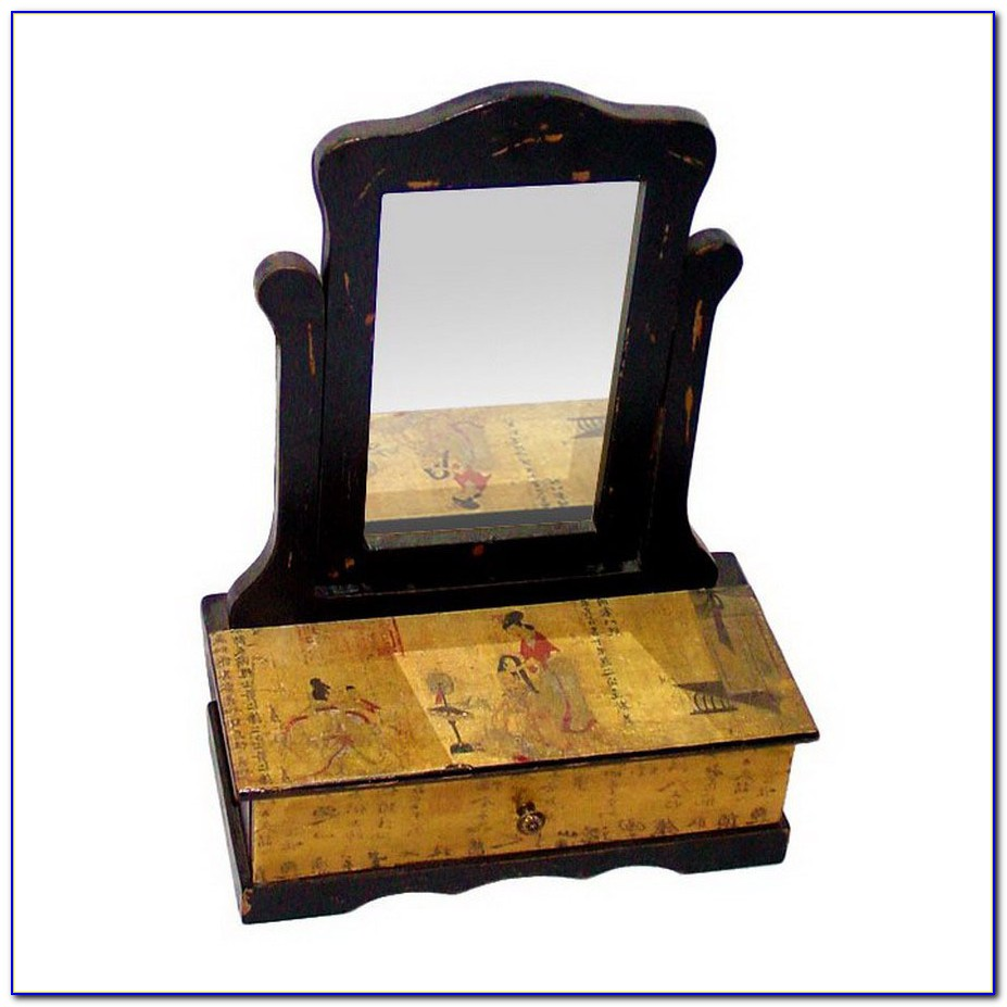 Vintage Tabletop Jewelry Armoire