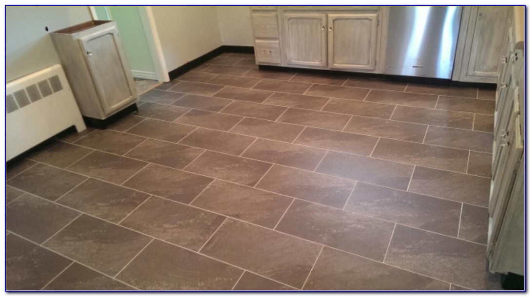Vinyl Tile With Grout Lines
