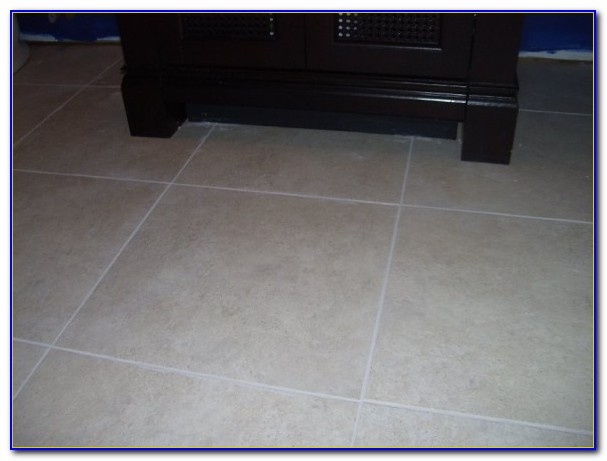 Vinyl Tile With Grout Over Linoleum