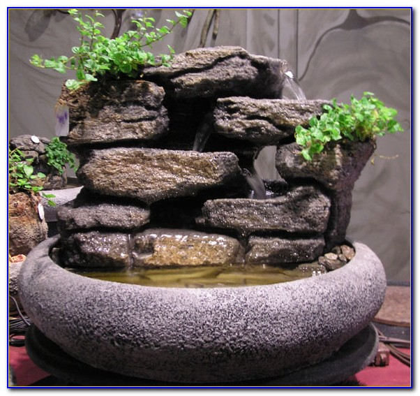 Waterfall Creek Cascading Tabletop Fountain