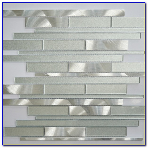 White Glass Marble Mixed Mosaic Backsplash Tile