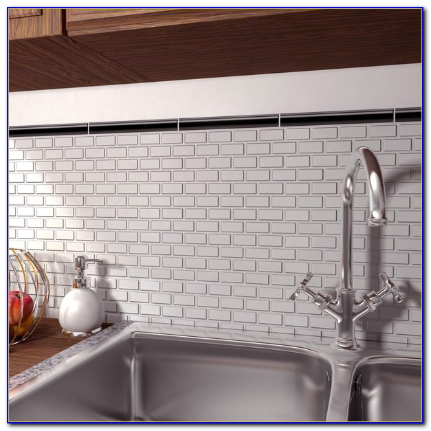 White Matte Subway Tile With Gray Grout