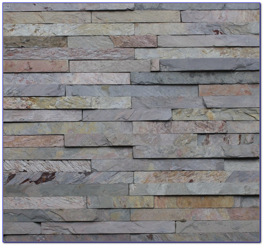 White Stacked Stone Wall Tile