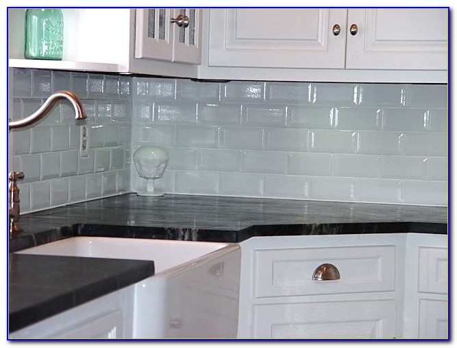 White Subway Tile Backsplash Bathroom