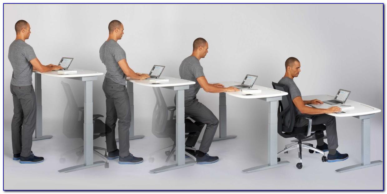 Adjustable Sitting To Standing Desk
