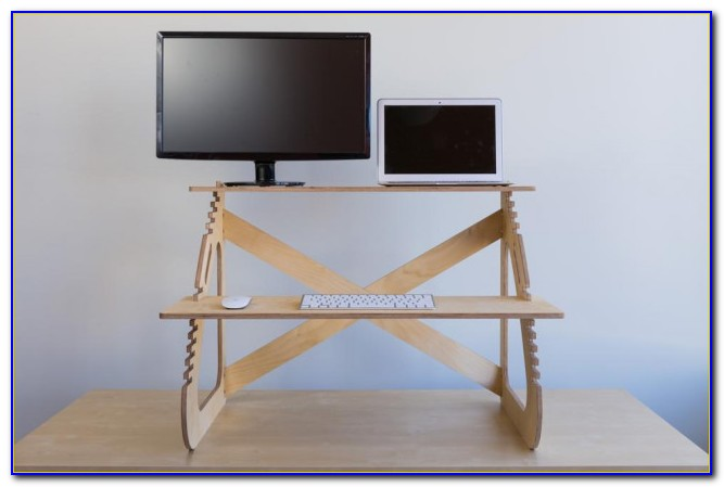 Adjustable Stand Up Desk Attachment