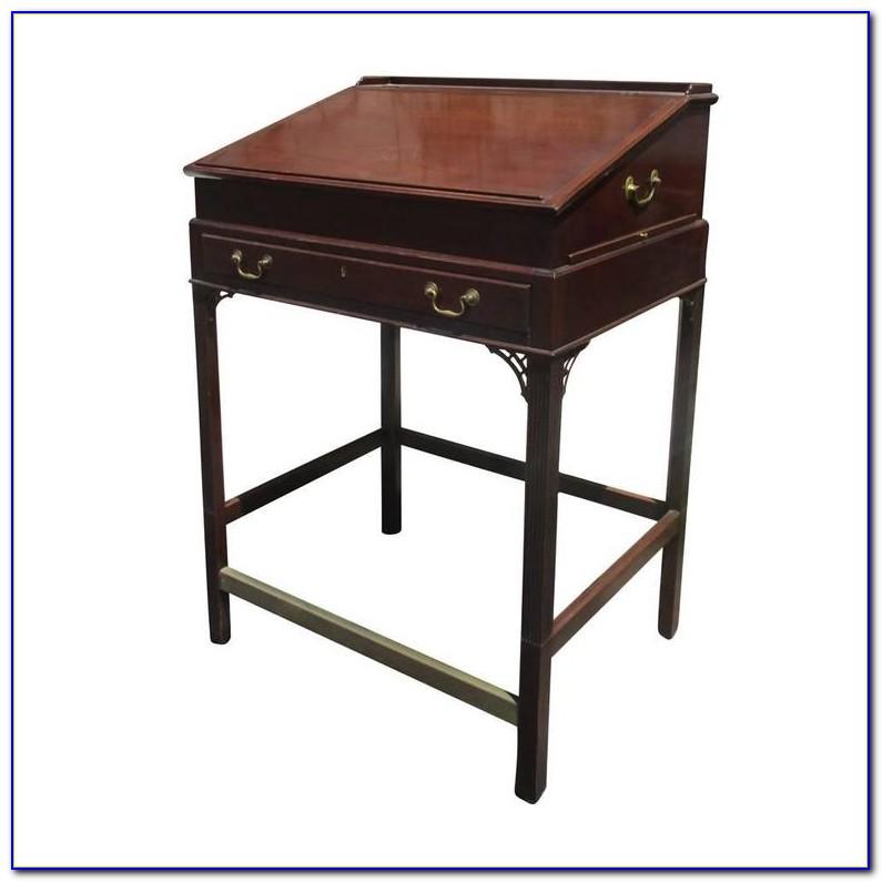 Antique Oak Stand Up Desk