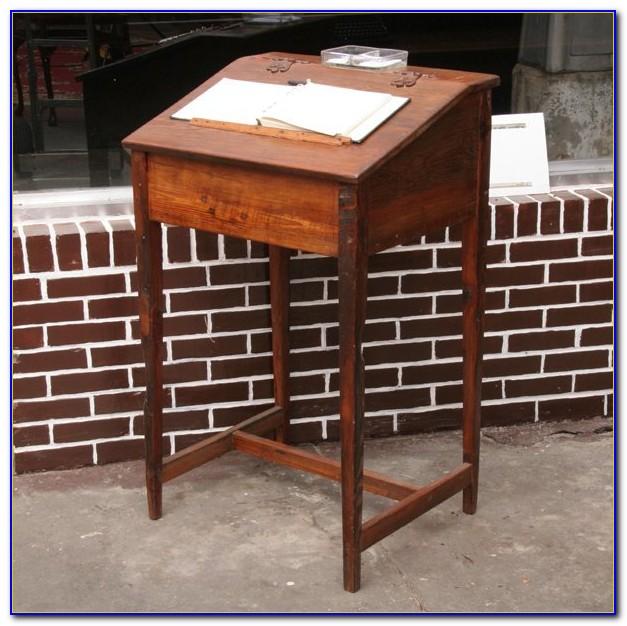 Antique Stand Up Bank Desk