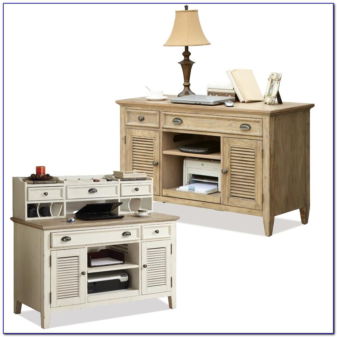 Barton Park Credenza Desk With Hutch
