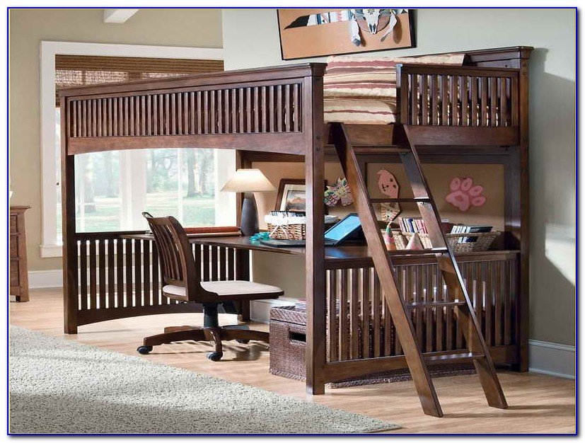 Beds With Desks Underneath Them