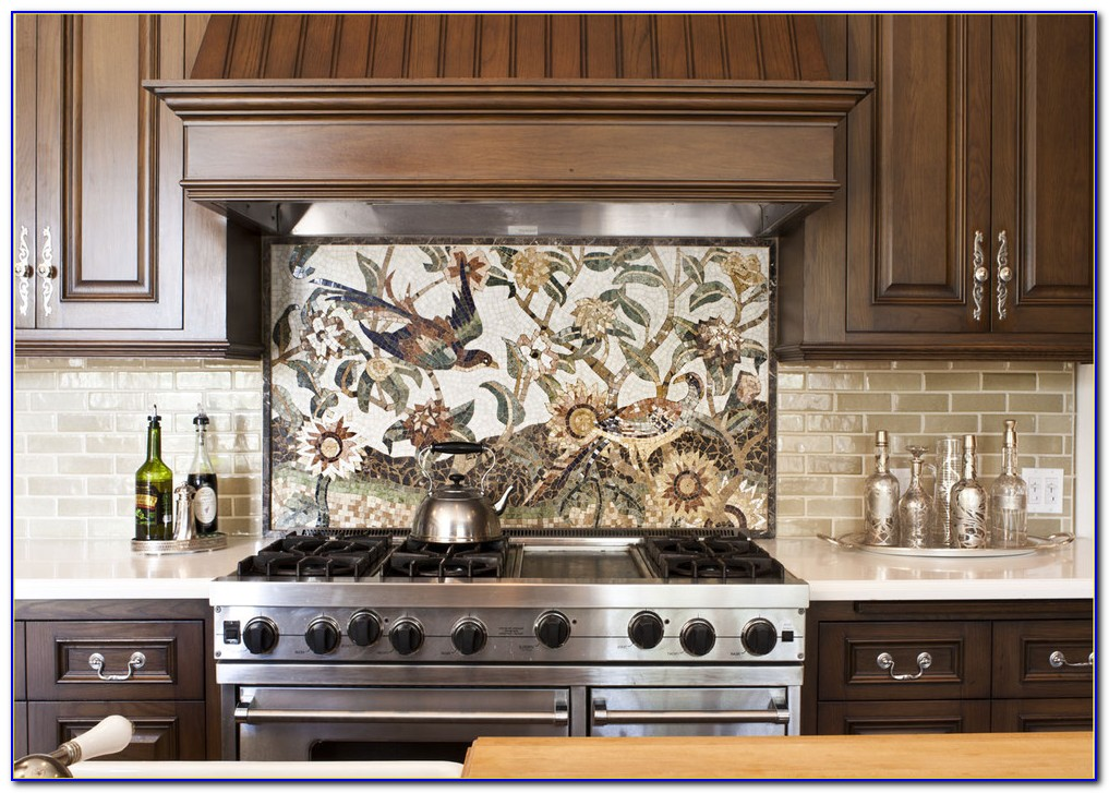 Beige Subway Tile Kitchen Backsplash