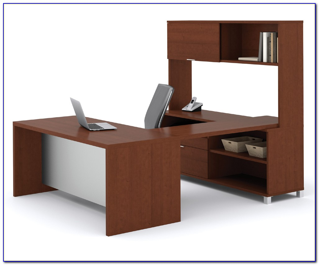 Bestar U Shaped Desk With Hutch