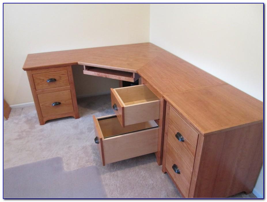 Black Corner Desk With File Cabinet