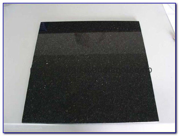 Black Galaxy Granite Tile Backsplash