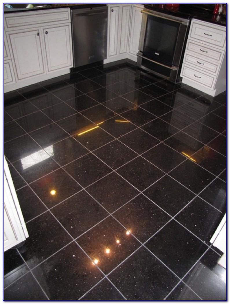 Black Galaxy Granite Tile Bullnose