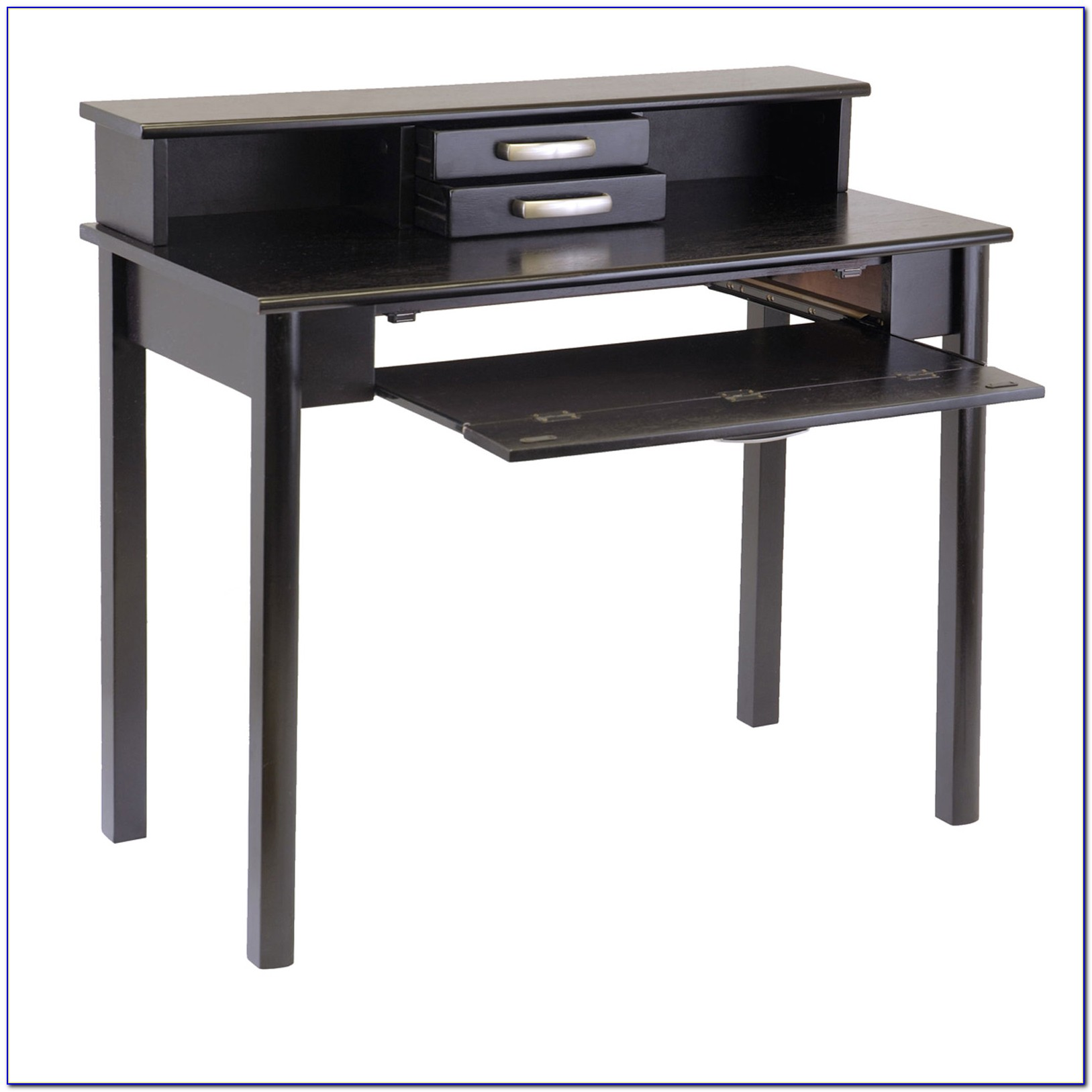 Black Home Office Desk With Hutch