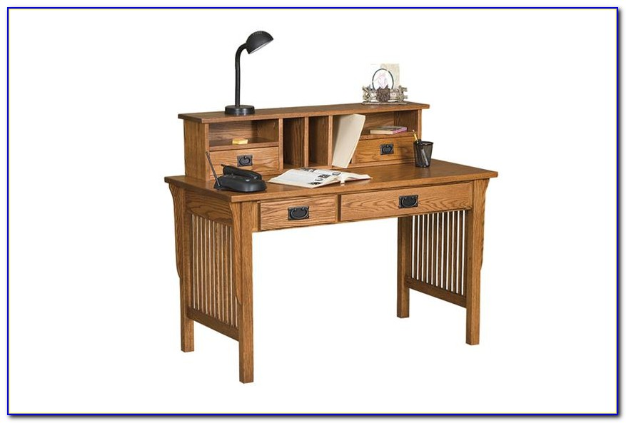 Black Solid Wood Desk With Hutch
