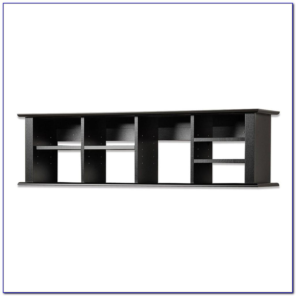 Black Wall Mounted Desk Hutch