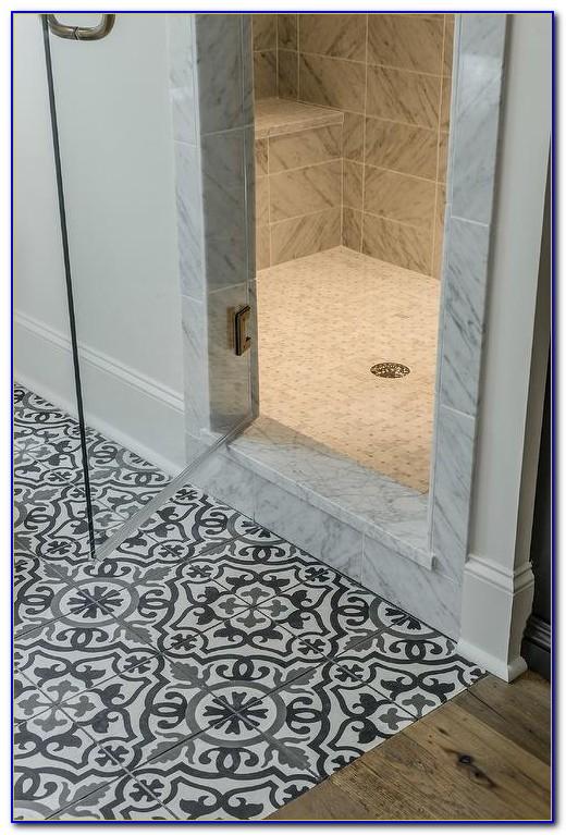 Black White Mosaic Floor Tiles