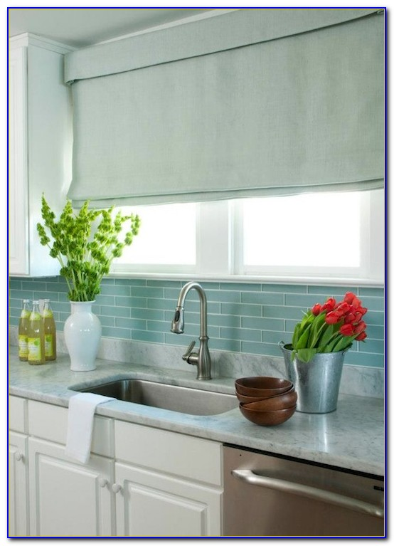 Blue Glass Tile Backsplash Ideas