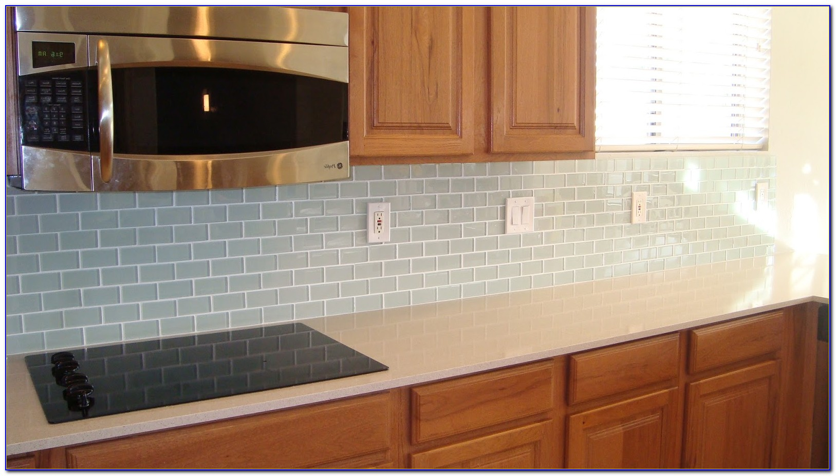 Blue Glass Tile Backsplash Pictures