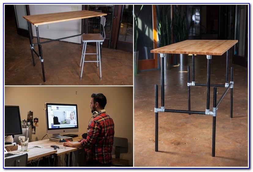 Build A Standing Computer Desk