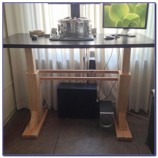 Build A Standing Desk Wood
