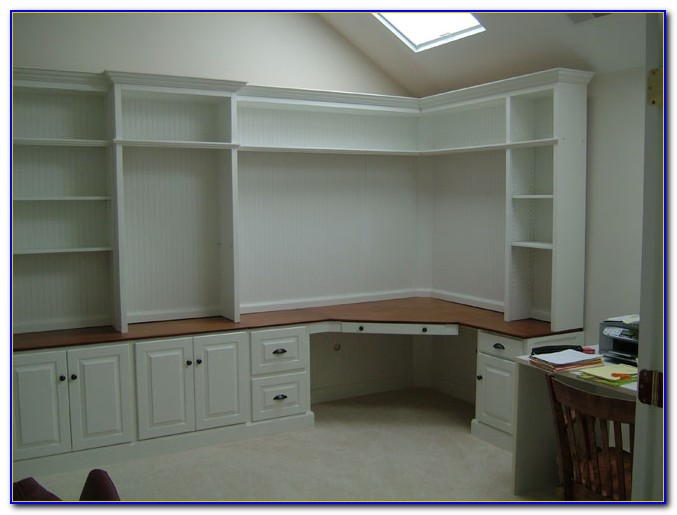 Built In Office Desk Cabinets