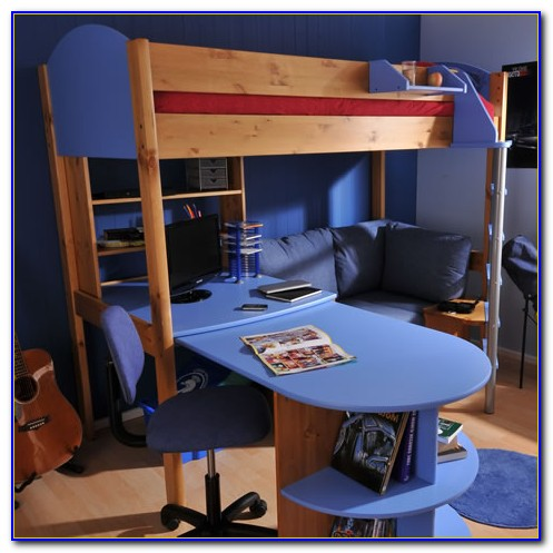 Bunk Bed And Desk Plans