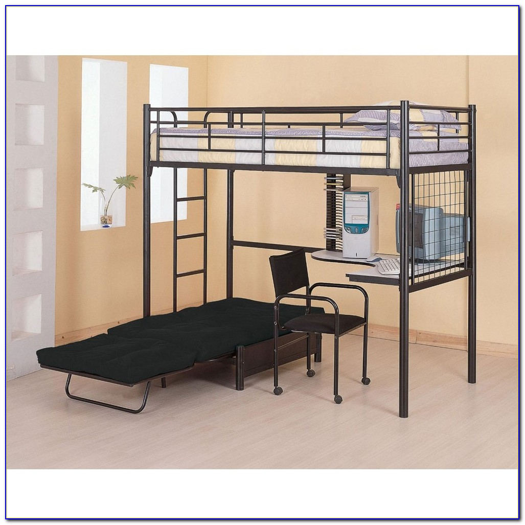Bunk Bed With Couch And Desk On Bottom