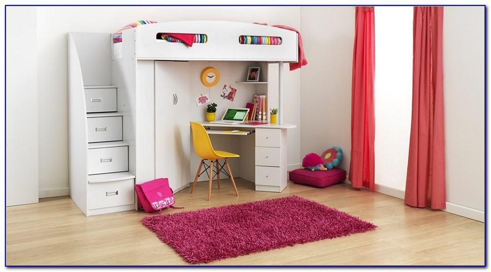 Bunk Bed With Desk And Couch Costco