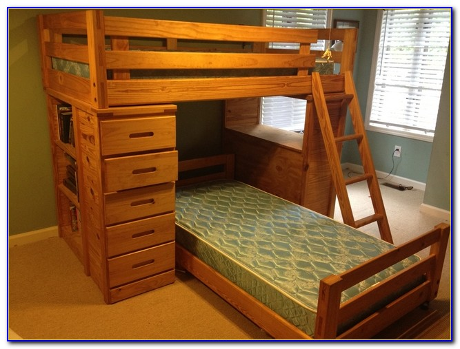 Bunk Bed With Desk Drawers And Trundle