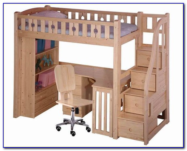 Bunk Beds With Desks And Stairs
