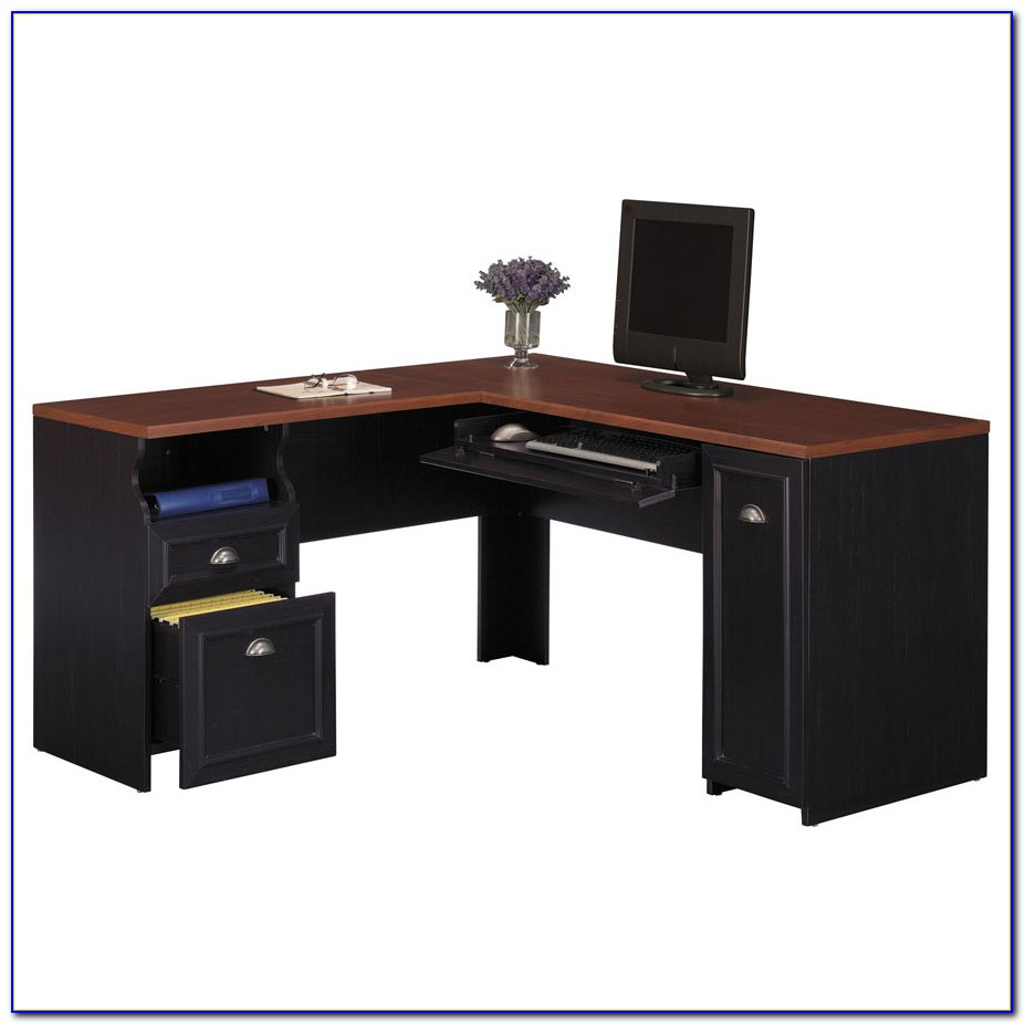 Bush L Shaped Desk Black