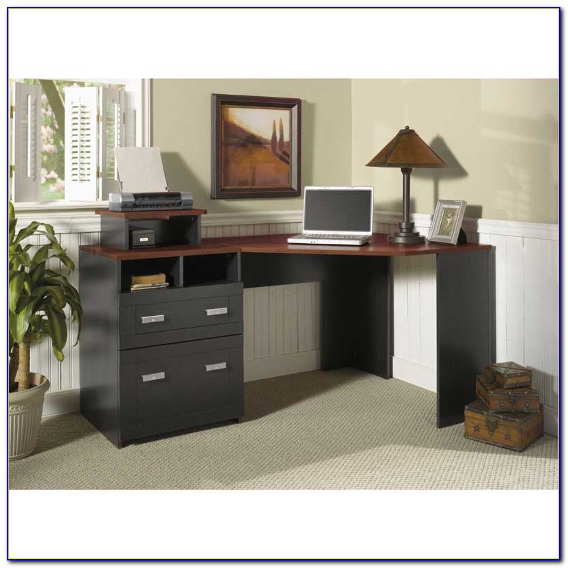 Bush Vantage Corner Desk Black