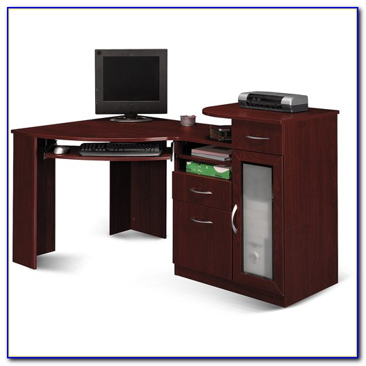 Bush Vantage Corner Desk Cherry