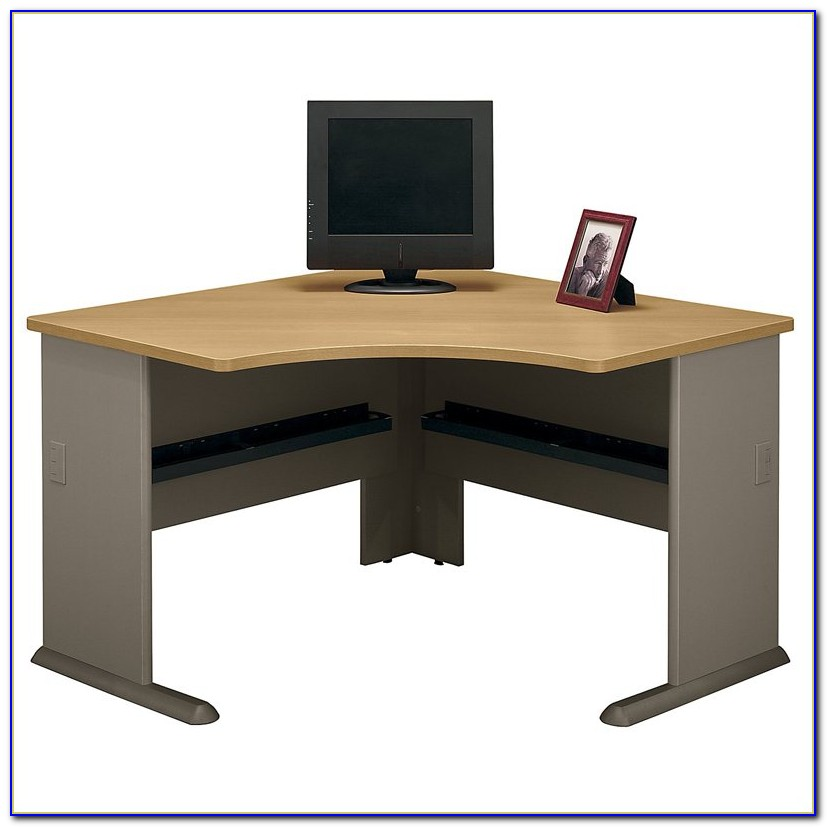 Bush Vantage Corner Desk Harvest Cherry