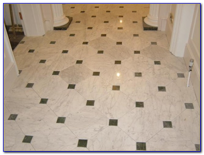 Carrara Marble Basketweave Floor Tile