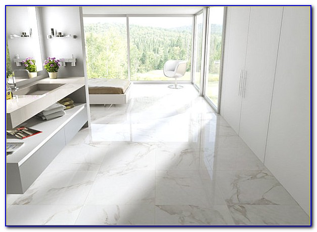 Carrara Marble Floor Tile Bathroom